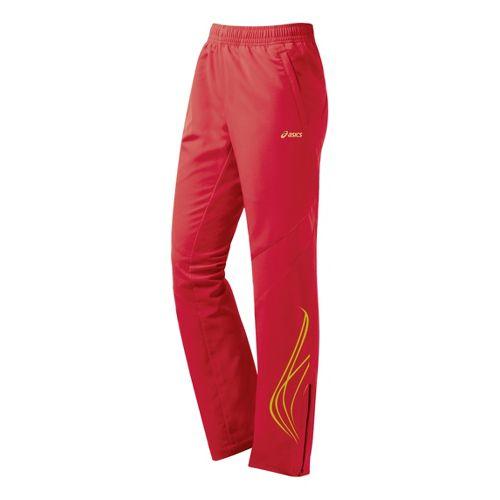 Womens ASICS TIL Full Length Pants - Flame Red L