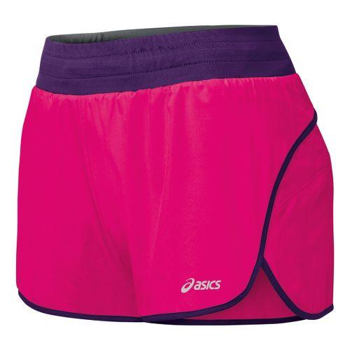 Womens ASICS Distance 3.5 Splits Shorts - Magenta/Berry M