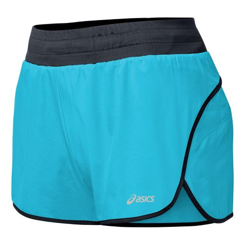 Womens ASICS Distance 3.5 Splits Shorts - Ocean L