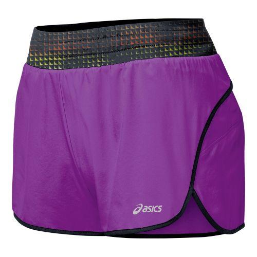 Womens ASICS Distance 3.5 Splits Shorts - Purple Pop L