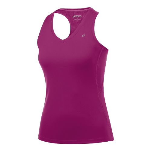 Womens ASICS Favorite Racerback Tanks Technical Tops - Wild Aster S