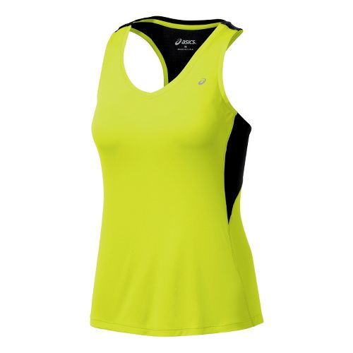 Womens ASICS Favorite Racerback Tanks Technical Tops - WOW M