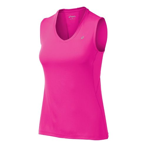Womens ASICS Favorite Tanks Technical Tops - PinkGlo XS