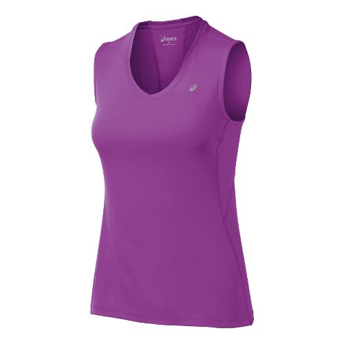 Womens ASICS Favorite Tanks Technical Tops - Purple Pop/Purple Pop XL