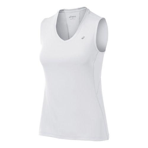 Womens ASICS Favorite Tanks Technical Tops - White S