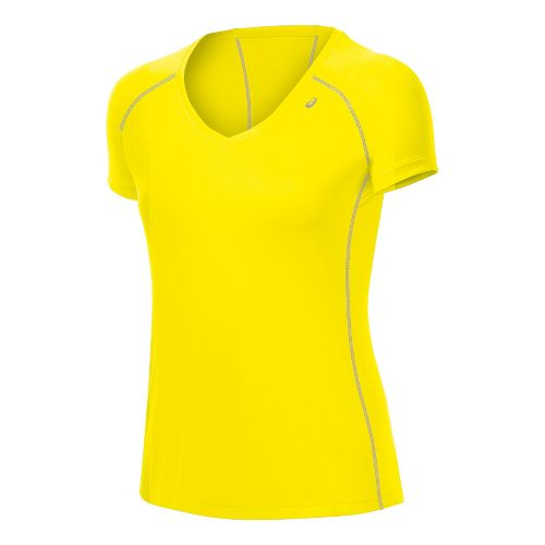 Womens ASICS Lite-Show Favorite Short Sleeve Technical Tops - Vivid XS