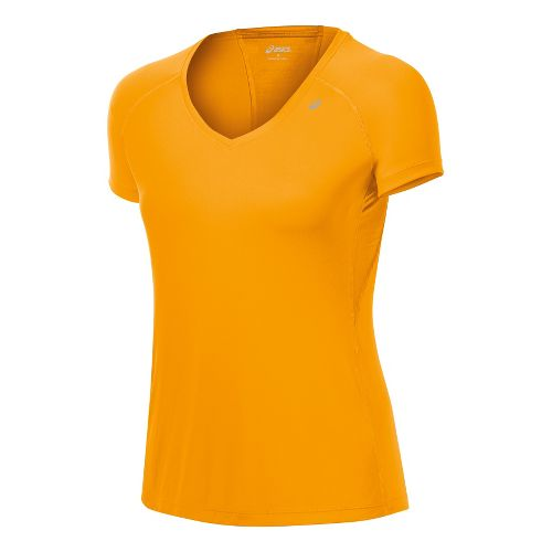 Womens ASICS Favorite Short Sleeve Technical Tops - Fuel M
