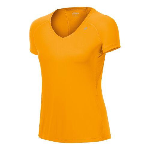 Womens ASICS Favorite Short Sleeve Technical Tops - Fuel S