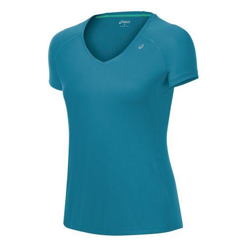 Womens ASICS Favorite Short Sleeve Technical Tops - Jade L
