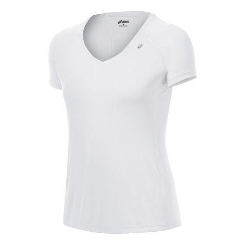 Womens ASICS Favorite Short Sleeve Technical Tops - White S