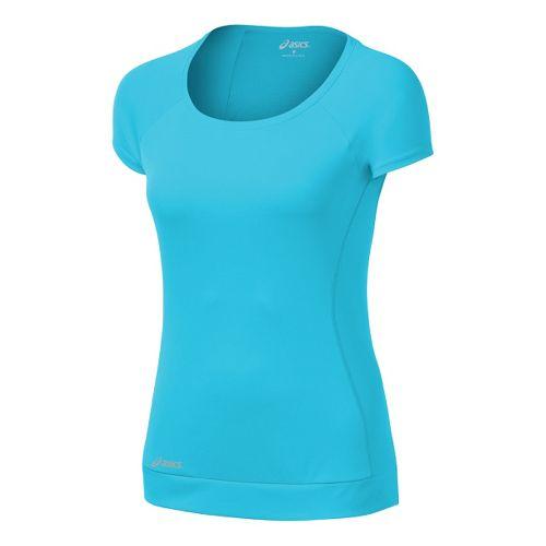 Womens ASICS Favorite Short Sleeve Tee Technical Tops - Ocean S