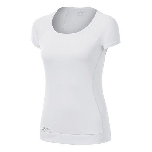 Womens ASICS Favorite Short Sleeve Tee Technical Tops - White XS