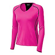 Womens ASICS Favorite Long Sleeve No Zip Technical Tops