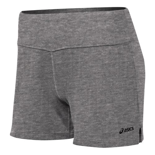 Womens ASICS Contour LT Unlined Shorts - Heather Iron L