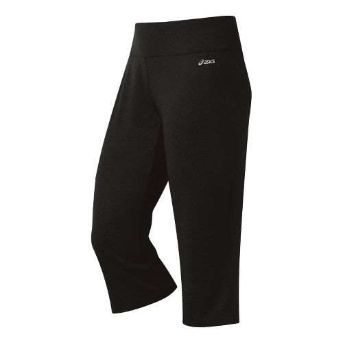 Womens ASICS Contour LT Capri Pants - Black XS