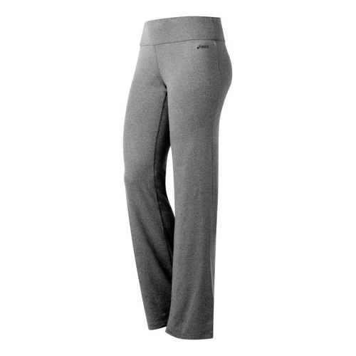 Womens ASICS Contour LT Full Length Pants - Heather Iron M