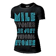 Womens ASICS Stones Tee Short Sleeve Technical Tops