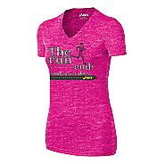Womens ASICS The Run Tee Short Sleeve Technical Tops