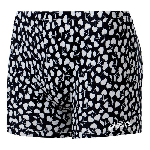 Womens ASICS Cherry Kisses Fitted Shorts - Black/White M