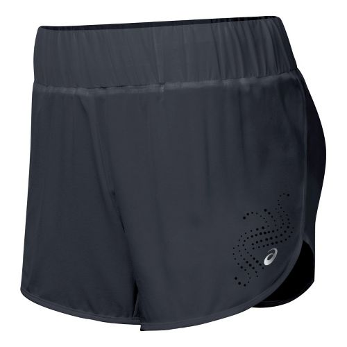 Womens ASICS Performance Fun Splits Shorts - Steel XS