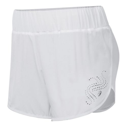 Womens ASICS Performance Fun Splits Shorts - White L