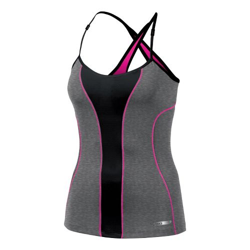 Womens ASICS Abby Bra Tank Technical Tops - Heather Iron M