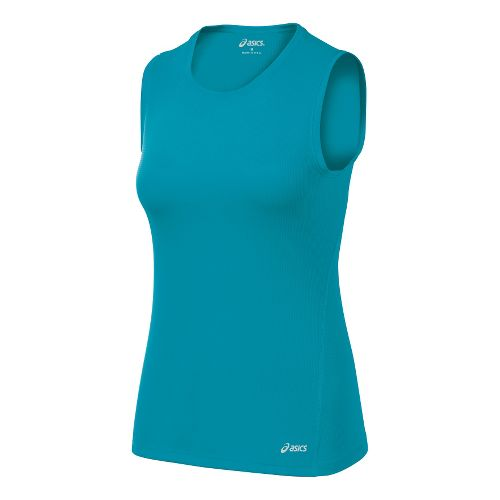 Womens ASICS Core Tanks Technical Tops - Enamel M