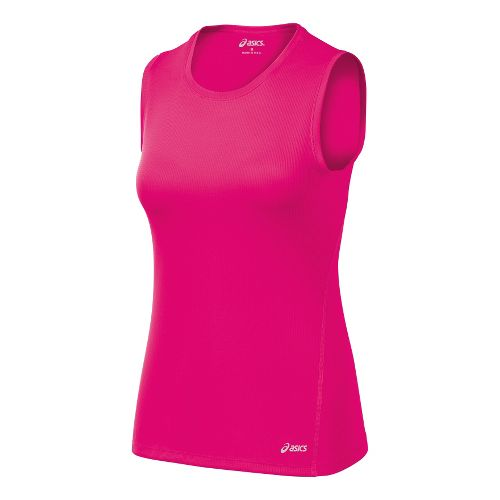 Womens ASICS Core Tanks Technical Tops - Magenta XL