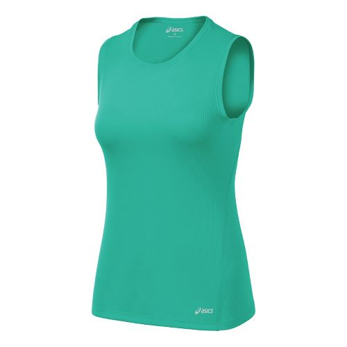 Womens ASICS Core Tanks Technical Tops - Mint M
