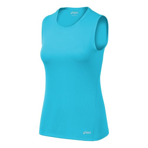 Womens ASICS Core Tanks Technical Tops - Ocean XS