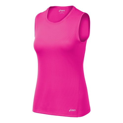 Womens ASICS Core Tanks Technical Tops - PinkGlo S