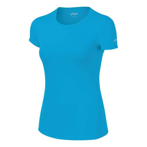 Womens ASICS Core Short Sleeve Technical Tops - Atomic Blue L