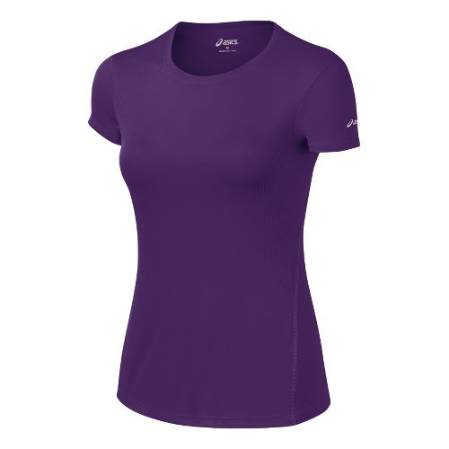 Womens ASICS Core Short Sleeve Technical Tops - Berry M