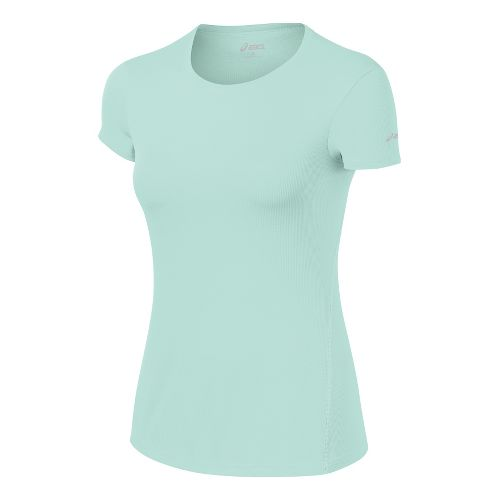 Womens ASICS Core Short Sleeve Technical Tops - Crystal Blue M