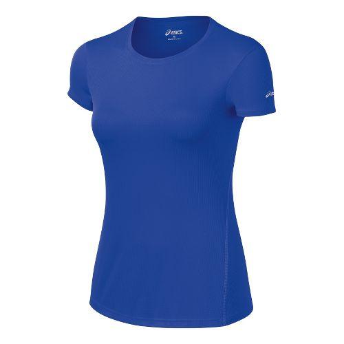 Womens ASICS Core Short Sleeve Technical Tops - Dazzling Blue XL