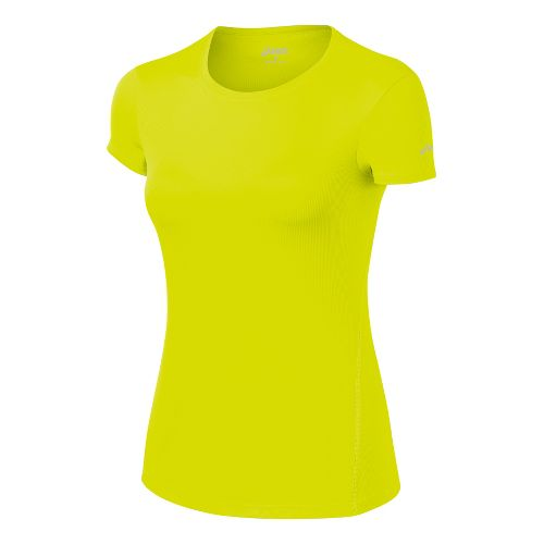 Womens ASICS Core Short Sleeve Technical Tops - Electric Lime XL