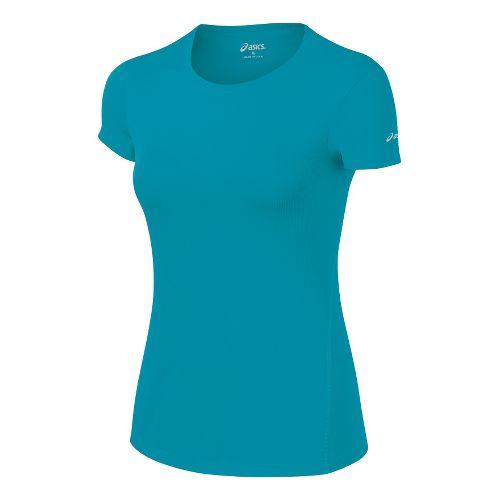 Womens ASICS Core Short Sleeve Technical Tops - Enamel XS