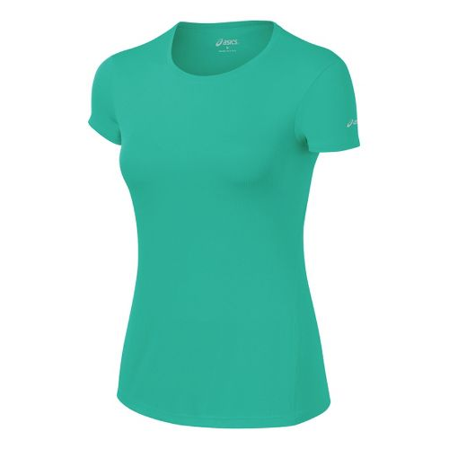 Womens ASICS Core Short Sleeve Technical Tops - Mint XS