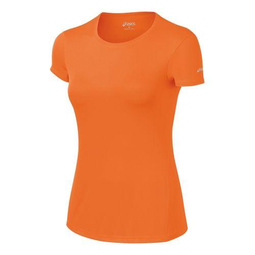 Womens ASICS Core Short Sleeve Technical Tops - Orange Burst S