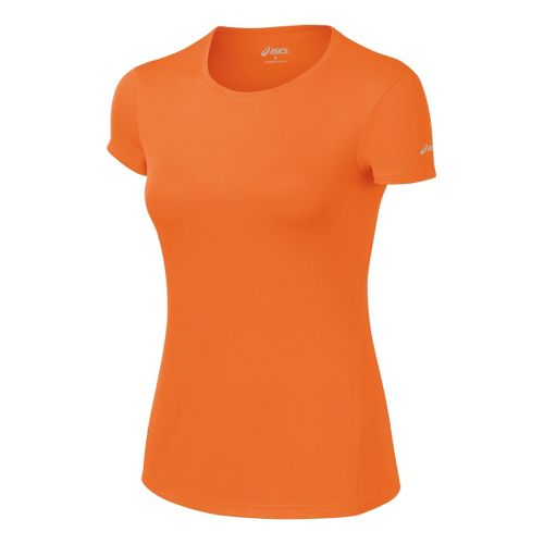 Womens ASICS Core Short Sleeve Technical Tops - Orange Burst XS