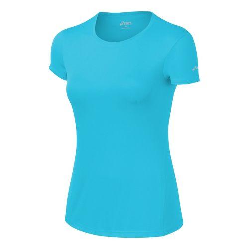 Womens ASICS Core Short Sleeve Technical Tops - Ocean XS