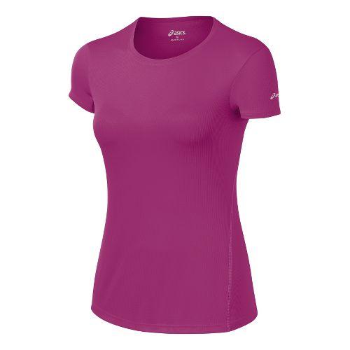 Womens ASICS Core Short Sleeve Technical Tops - Wild Aster XL