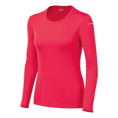 Womens ASICS Core Long Sleeve No Zip Technical Tops - Verve M