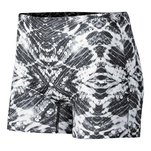 Womens ASICS PR Runbrief Boy Short Underwear Bottoms - Sequin Print M/L