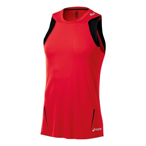 Mens ASICS ARD Singlet Technical Tops - True Red L