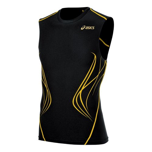 Mens ASICS TIL Inner Muscle Sleeveless Technical Tops - Black M