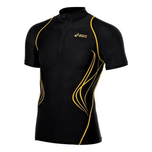 Mens ASICS TIL Inner Muscle Top Short Sleeve Technical Tops - Black XXL