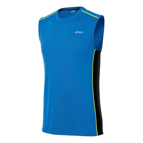 Mens ASICS FujiTrail Sleeveless Technical Tops - Electric S