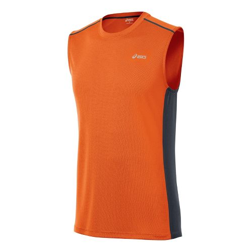 Mens ASICS FujiTrail Sleeveless Technical Tops - Zest XXL