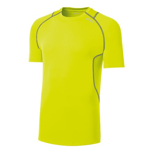 Mens ASICS Favorite Short Sleeve Technical Tops - Electric Lime S